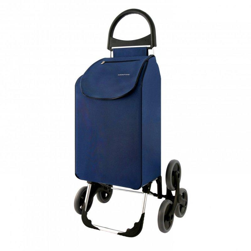 Wózek na zakupy Verona granatowy, firmy Aurora