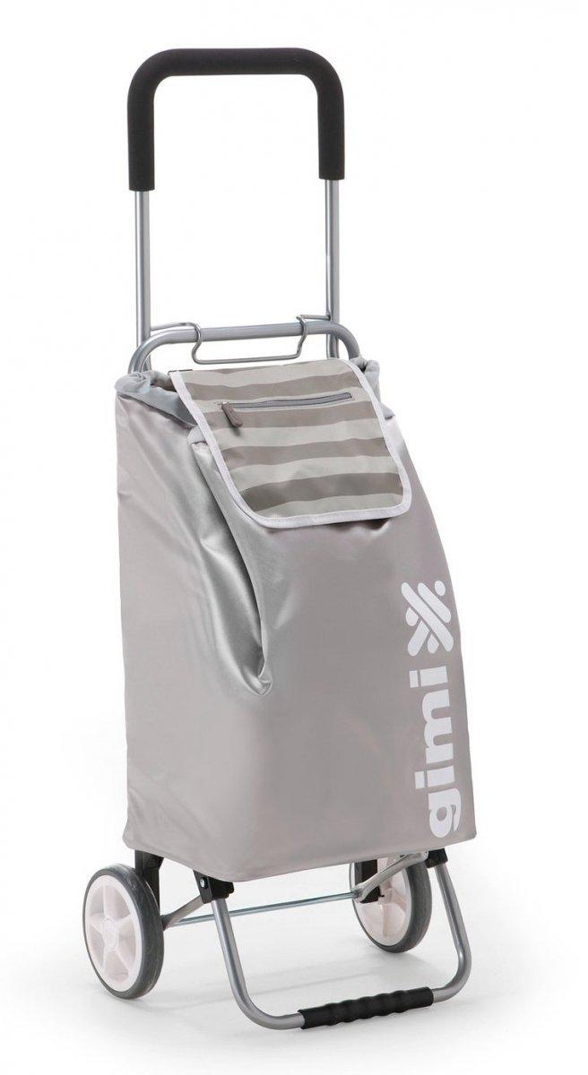 Wózek na zakupy FLEXI srebrny, firmy Gimi