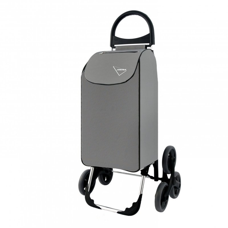 Wózek na zakupy Verona szary, firmy Aurora