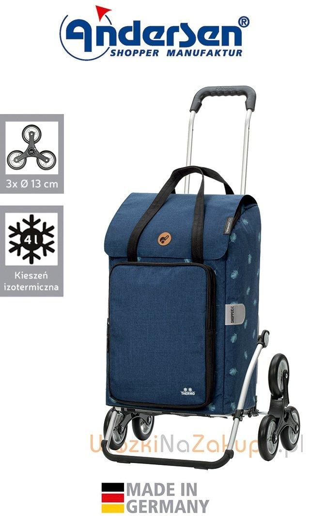 Wózek na zakupy Royal 6 Ivar niebieski, firmy Andersen