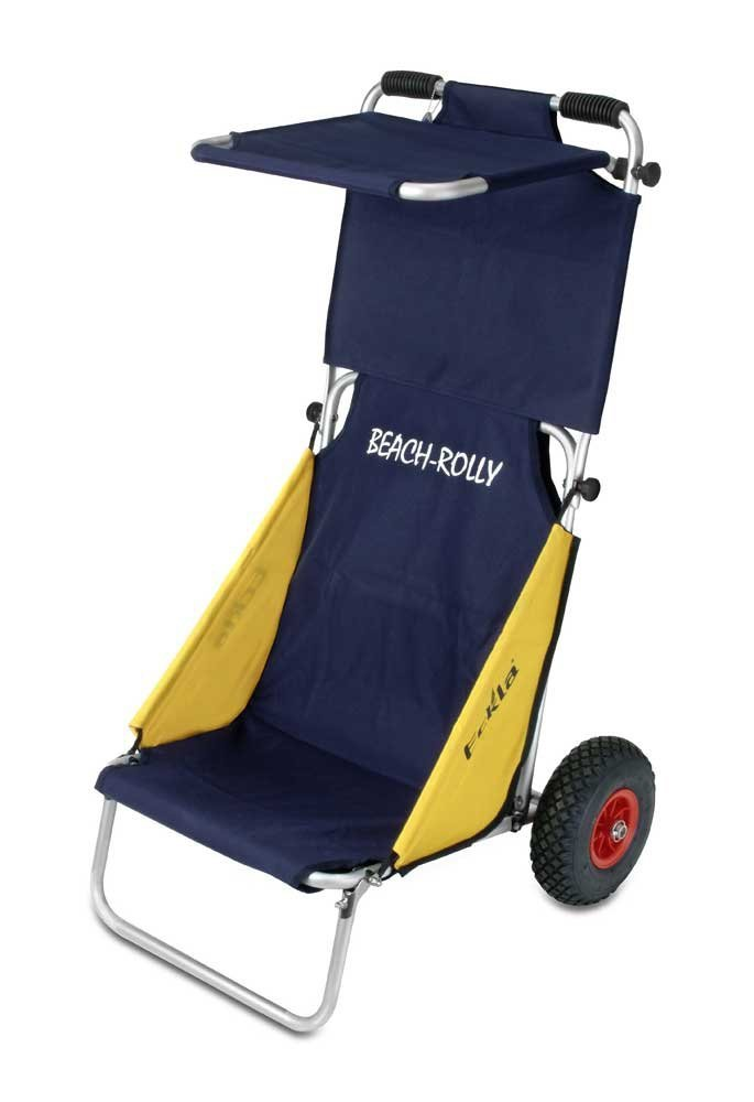 Wózek turystyczny Beach-Rolly - koła pełne i daszek, firmy Eckla