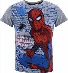 T-shirt Spiderman Na ścianie szary