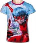 T-shirt Miraculum Biedronka i Czarny Kot Paryż fiolet