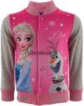 Bluza Bejsbolówka Frozen Elza i Olaf jasny róż