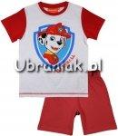 Piżama letnia Psi Patrol biało-czerwona