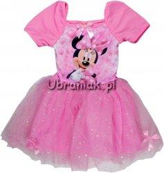 Sukienka Myszka Minnie tiul jasny róż