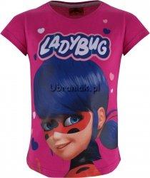 T-shirt Biedronka i Czarny Kot różowy