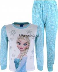 Piżama Kraina Lodu Elsa w płatki śniegu niebieska