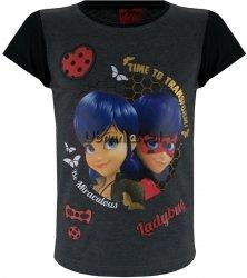 T-shirt Biedronka i Czarny Kot grafitowy