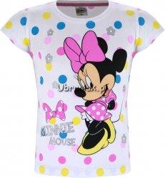 T-shirt Myszka Minnie w kropki biały
