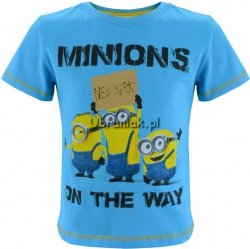 T-shirt Minionki NEW YORK niebieski