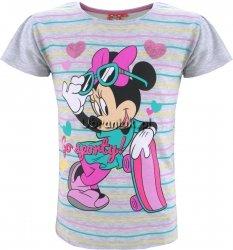 Bluzeczka z Myszką Minnie szara w paseczki