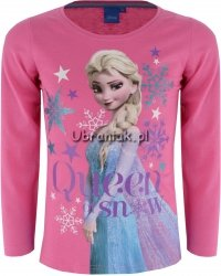 Bluzka Frozen Królowa Śniegu Elsa róż
