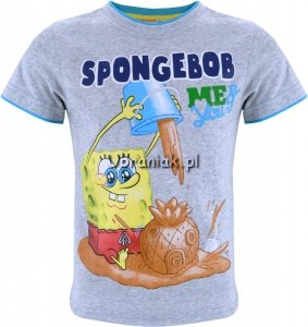 T-shirt SpongeBob szary