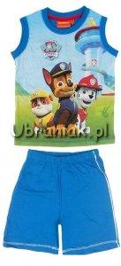 Komplet t-shirt i spodenki Psi Patrol niebieski