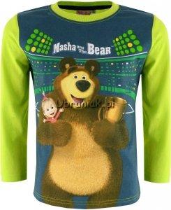Bluzka Masza i Niedźwiedź dla Chłopca zielona
