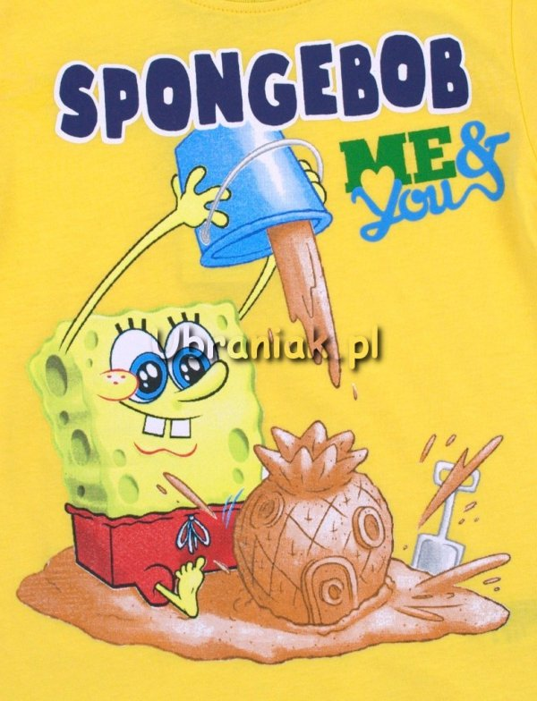 T-shirt SpongeBob żółty