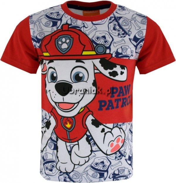 T-shirt Psi Patrol Marshall czerwony