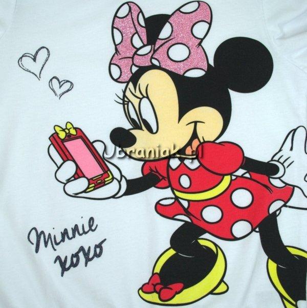 Bluzka Myszka Minnie Xoxo biała