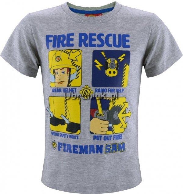 Koszulka Strażak Sam Fire Rescue szara