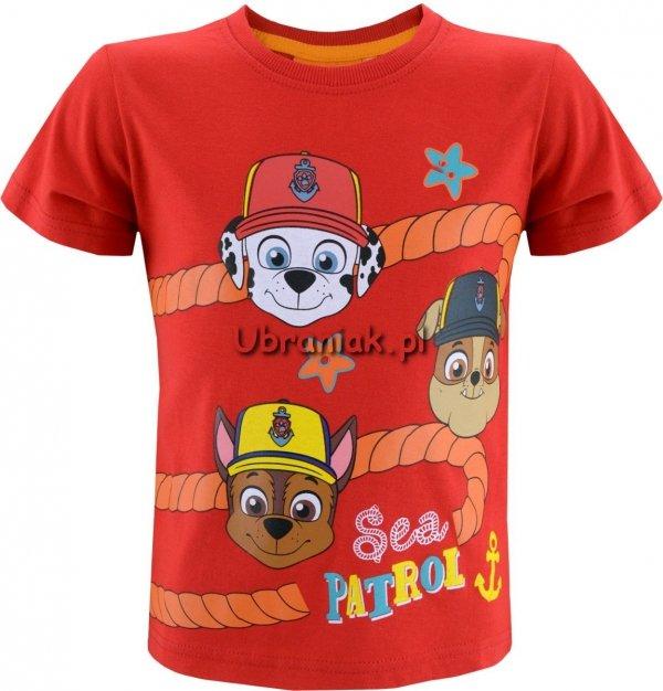T-shirt Psi Patrol Morski Patrol czerwony