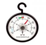 Termometr do lodówek i zamrażarek - czarny 52x70mm