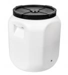 Beczka, pojemnik fermentacyjny, DON KISZOT - biała, otwór na kran, 60 L