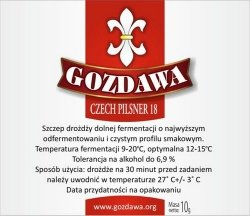 DROŻDŻE DO PIWA CZECH PILSNER 18