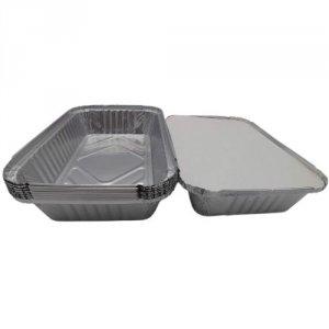 Foremka aluminiowa Lasagne 21x14,5x5cm - 10szt. + pokrywka
