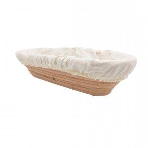 Podłużny koszyk do wyrastania chleba 1 kg + pokrowiec