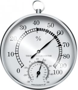 Termometr higrometr wiszący srebrny