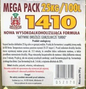 Drożdże gorzelnicze 1410 MEGA PACK 390g
