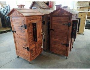 Wędzarnia drewniana ogrodowa automatyczna 150l. - Plus