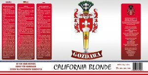 California Blonde 1,7kg + drożdże
