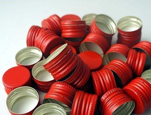 Nakrętka / Zakrętka gwintowana ale czerwona 28x18 mm 1 szt