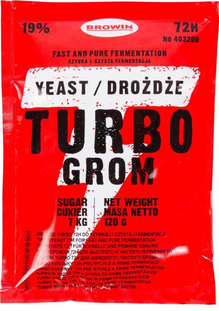 Drożdże gorzelnicze TURBO GROM 72h
