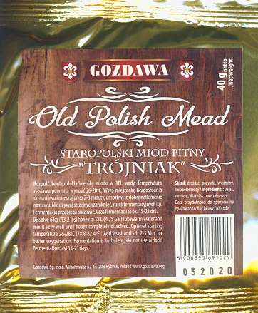 "Drożdże do miodu ""Old Polish Mead"""