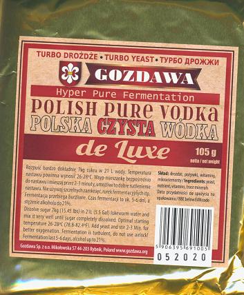 "Drożdże ""Polska Czysta Wódka"" de Luxe"