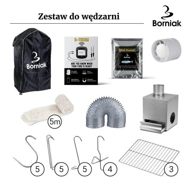 Zestaw do Wędzarni Nierdzewnej Borniak UWDS-70
