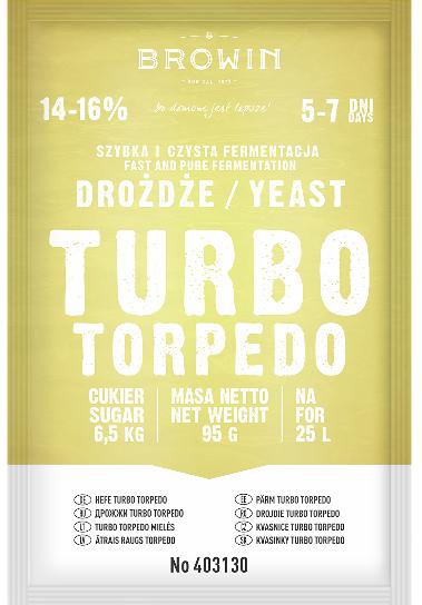 Drożdże gorzelnicze Turbo 5-7 dni, 95g