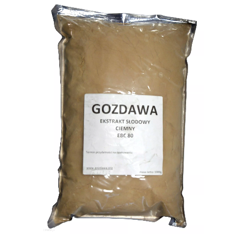 Ekstrakt słodowy suchy ciemny 1 kg EBC 80