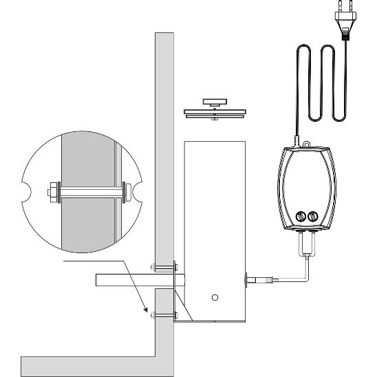 Elektryczny generator dymu z pompką - do wędzarni