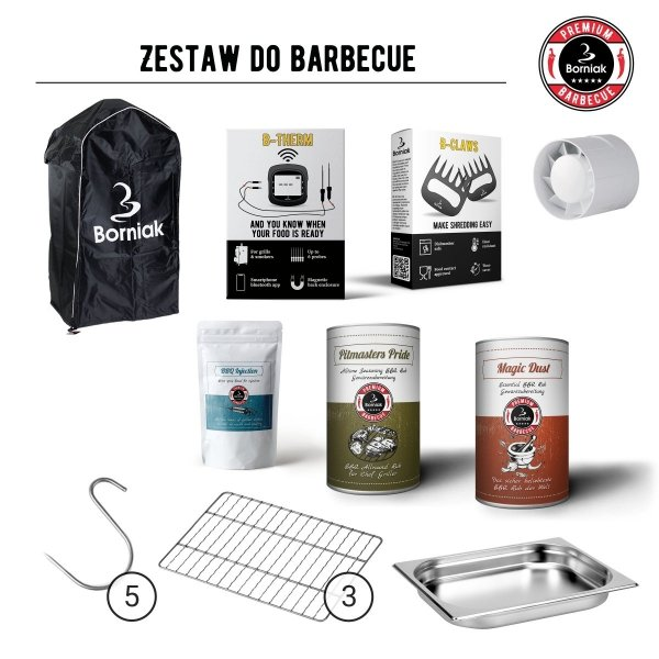 Zestaw do Smoker BBQ Borniak BBD-150