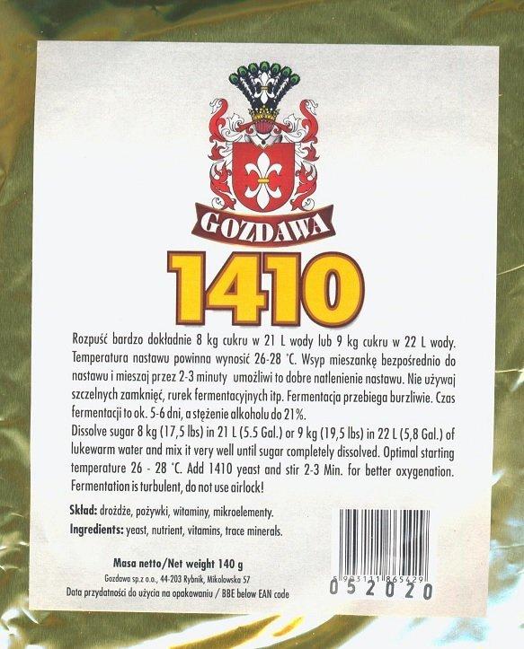 """Drożdże """"gorzelnicze"""" 1410"""