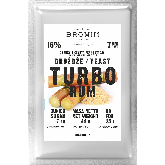 Drożdże Turbo Rum - 44g