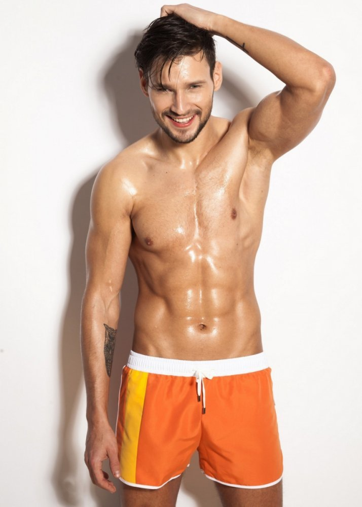 2391d8896 Alpha Male Curso Orange Pánské plavky - Pánské plavky - Plavky