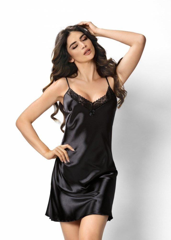 Donna Sylvia černá Noční košile - Noční košile - Noční prádlo 71a3a4b70e