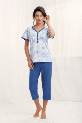 Luna Arcadia 572 Šedo-modré Dámské pyžamo