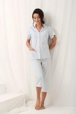 Luna Brenda 573 Šedé Dámské pyžamo