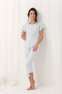 Luna Frances 554 Šedé Dámské pyžamo
